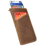 Urban Cowboy Wallets Men's Front Pocket Leather Card Sleeve Wallet by Urban Cowboy