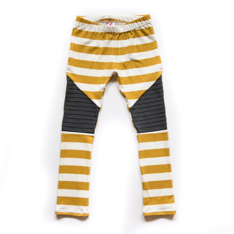 Mustard Stripe Moto Leggings or Harems