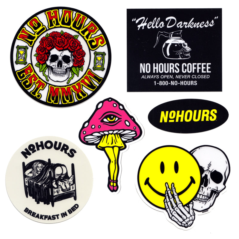 NoHOURS Sticker Pack 7