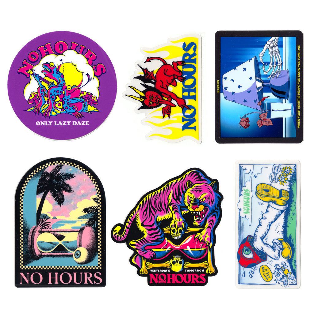 NoHOURS STICKER PACK 9