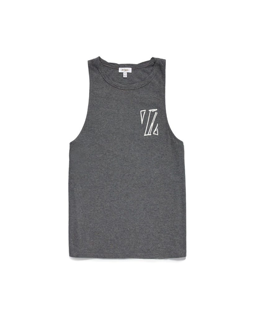 CHARCOAL HEATHER TOMBOY TANK