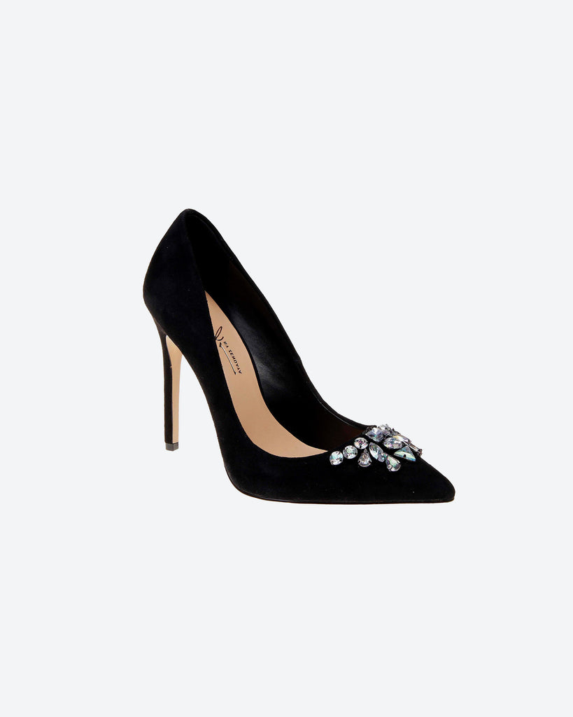 Ashby Jeweled Black Pump