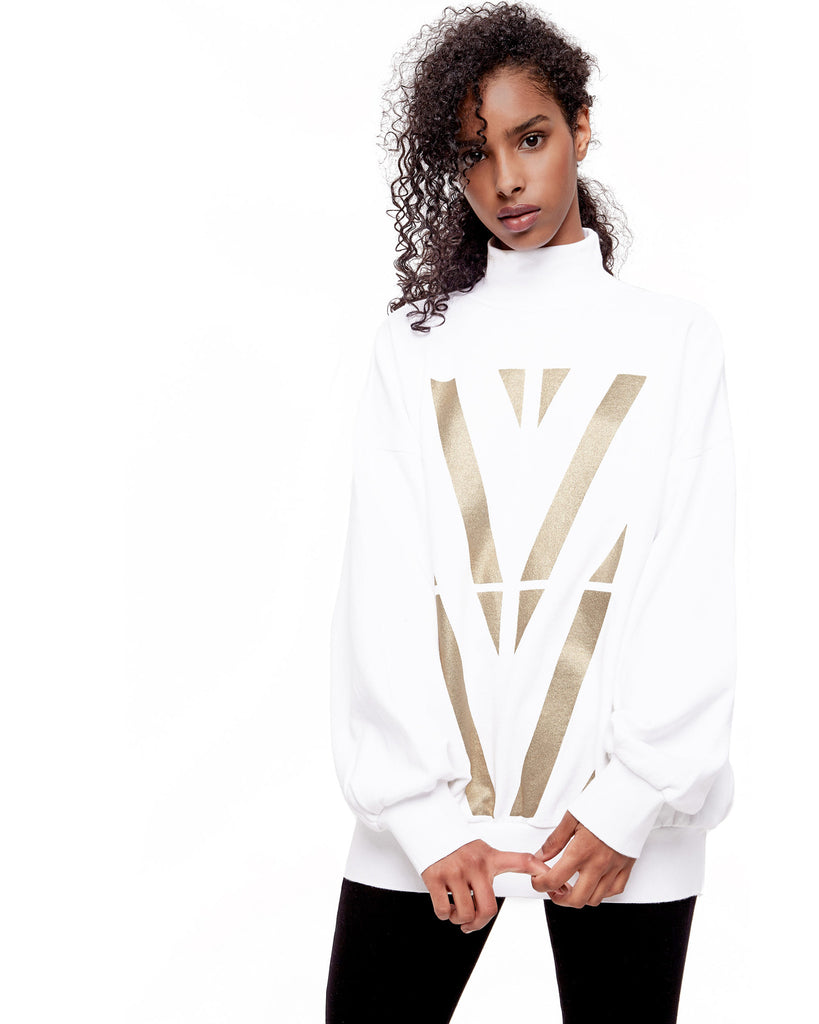 Gold Graphic Mockneck Sweatshirt