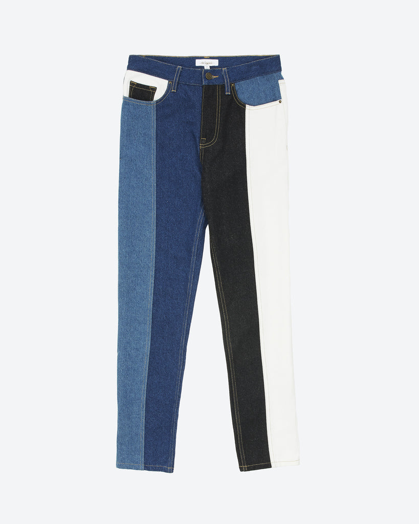 Patchwork Denim Pant