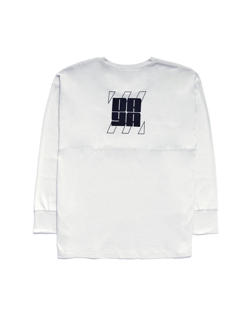 ICE BLUE LONG SLEEVE OVERSIZE TEE