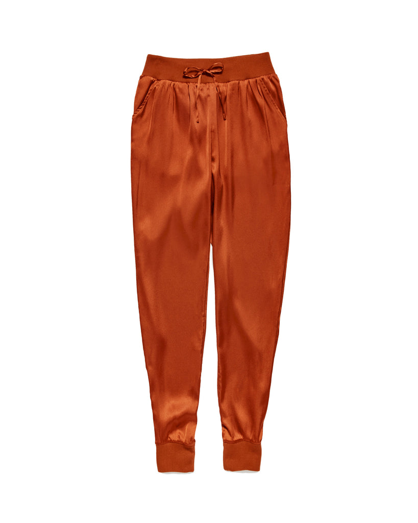 COPPER SATIN JOGGER