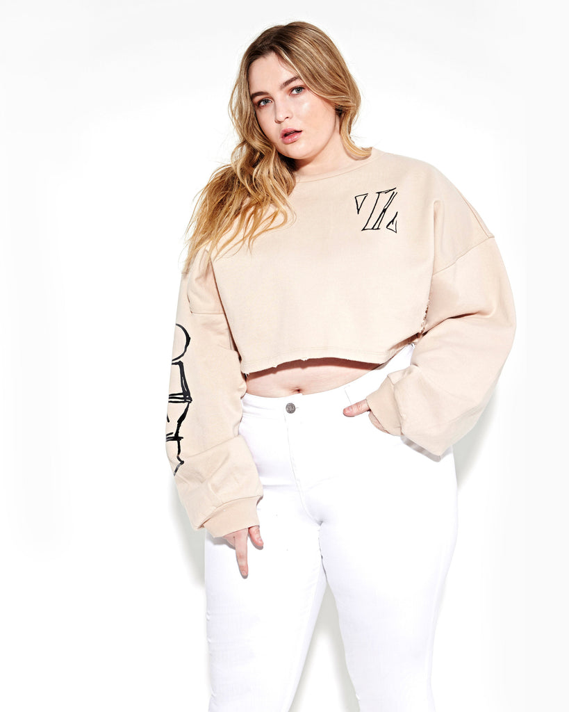 POWDER CROPPED PULLOVER