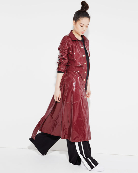 wine-vinyl-shirt-dress