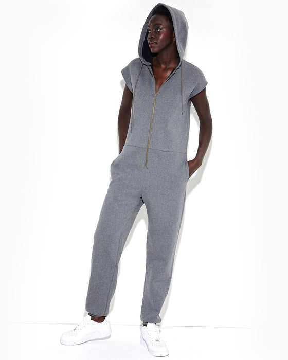 charcoal-heather-zip-up-sweatshirt-jumpsuit-with-hood