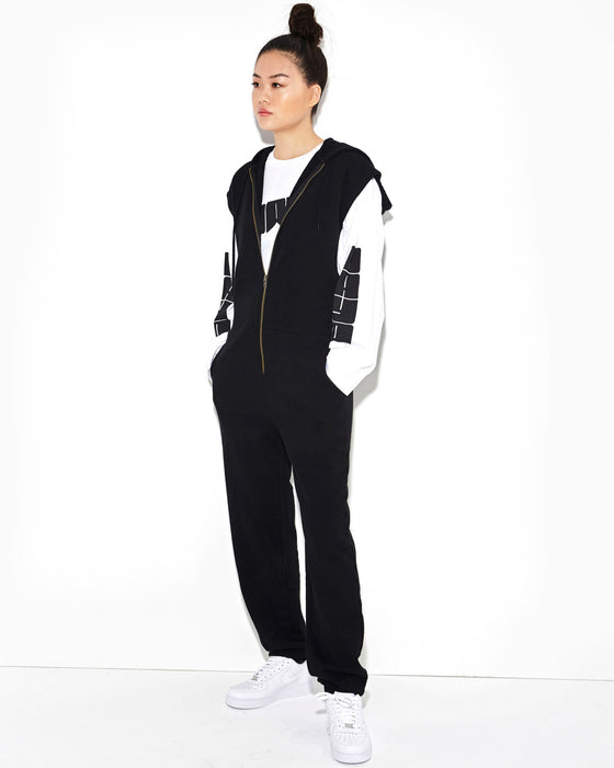 black-zip-up-sweatshirt-jumpsuit-with-hood