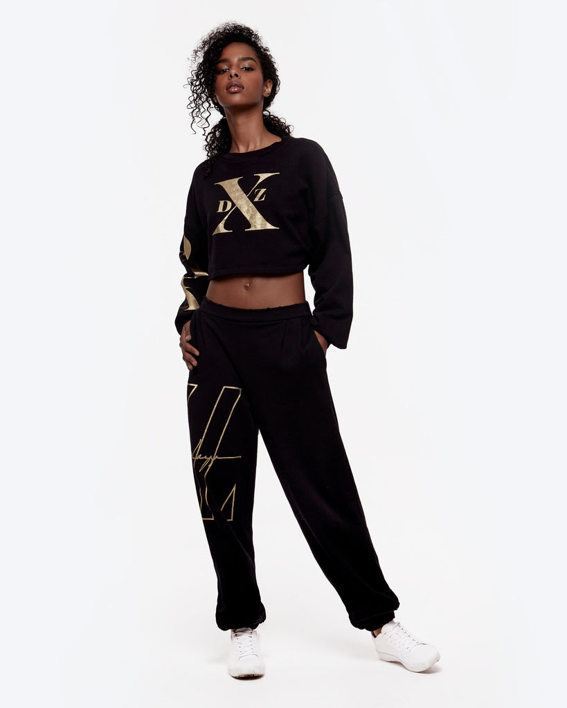 Highwaisted Pleated Graphic Sweatpant