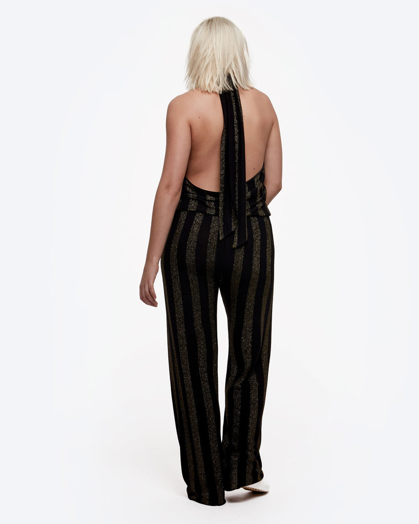 Metallic Halter Jumpsuit