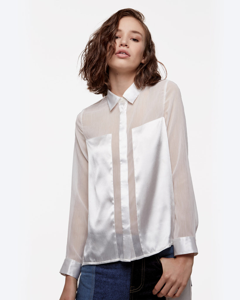 Satin Paneled Top