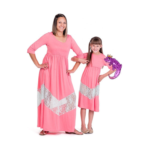 Mother & Daughter Lace Patchwork Dress