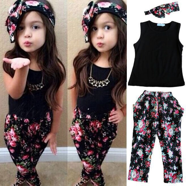 Floral Casual Girls Set