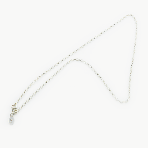 LoveLoops standard white gold belcher chain