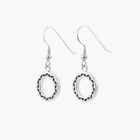Limited Edition LeafLoop Earrings Black on Silver