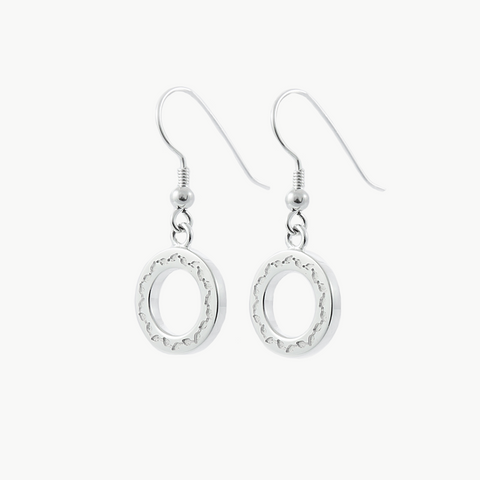 Limited Edition LeafLoop Earrings Silver on Silver