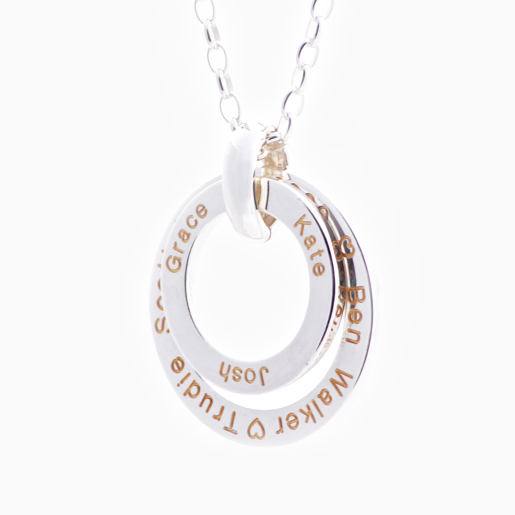 Sterling silver delight custom gift name necklace NZ
