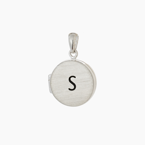 Sterling silver locket keepsake jewellery