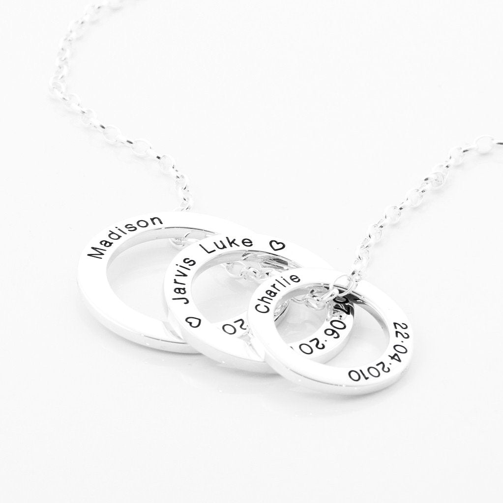 Sterling silver personal circle of life necklaces