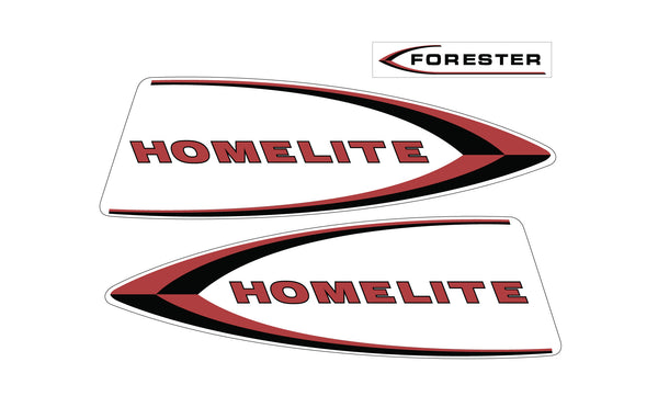 Forester Homelite Snowmobile Hood Decals