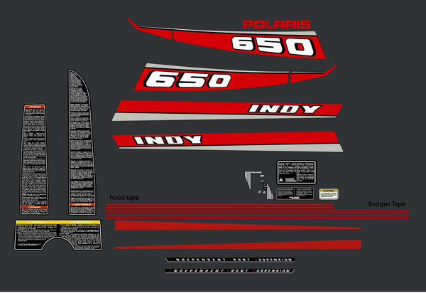 1990 Polaris Indy 650 Decal Kit