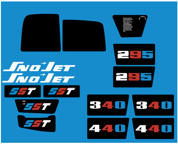 1973 Sno-Jet SST Decal Set