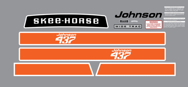 1970 Johnson  Ski-Horse Decal Kit