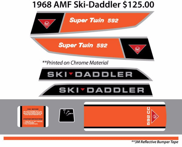 1968 AMF-Ski-Daddler Decal Set