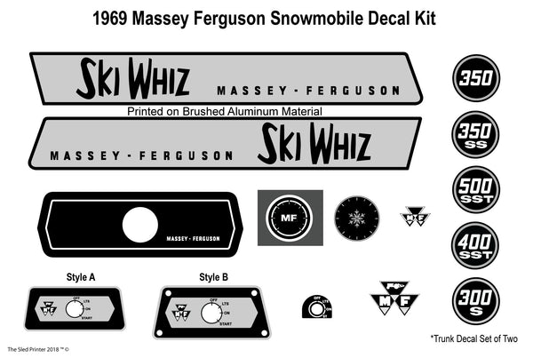 1969 Massey Ferguson Decal Kit