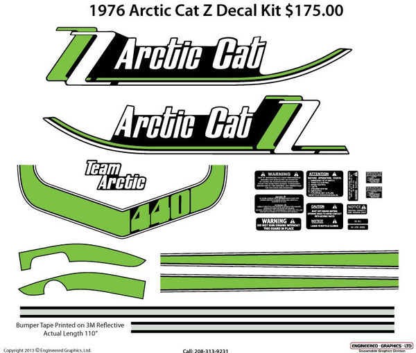 1976 Arctic Cat Z Decal Set