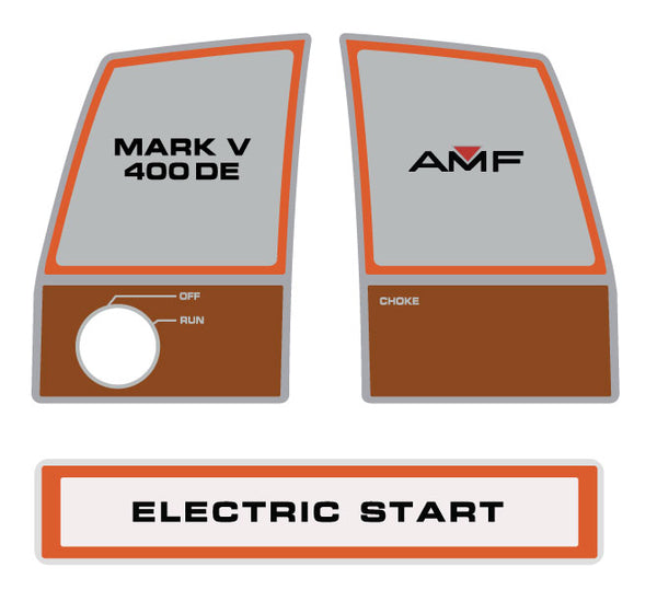 AMF Ski Daddler Mark V 400DE Dash Decals