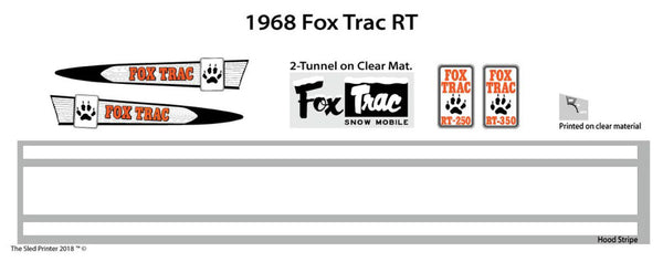 1968 Fox Trac RT Decal Set