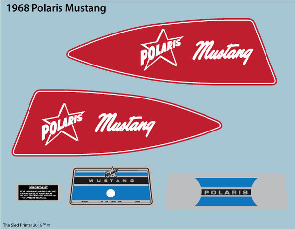 1968 Polaris Mustang Decal Set