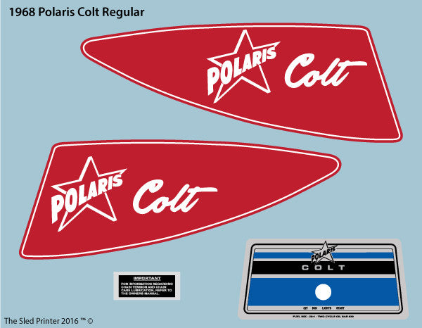 1968 Polaris Colt Decal Set