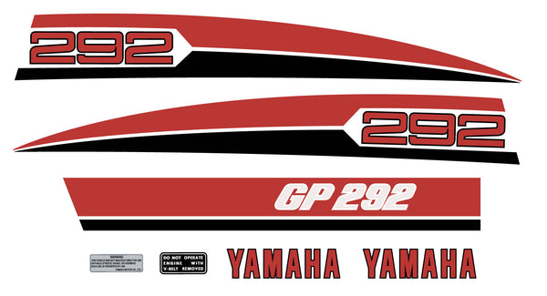 1974 YAMAHA GP 292 Hood Decals