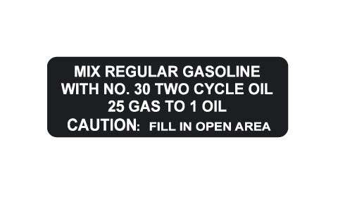 1974 Arctic Cat Lynx I/II Fuel Mixture Decal