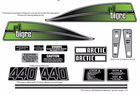 1974 Arctic Cat El-Tigre 340/440 Decal Set