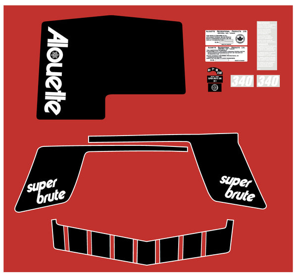 Alouette 1974 Super Brute Hood Decal Kit