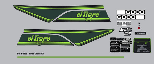1980 Arctic Cat El Tigre Decal Kit