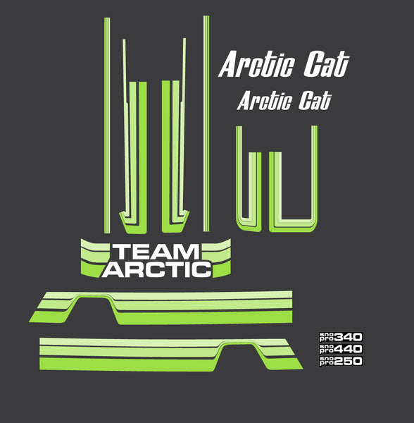 1980 Arctic Cat Sno Pro Decal Set