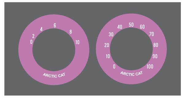 1972 Arctic Cat Gauges Decals