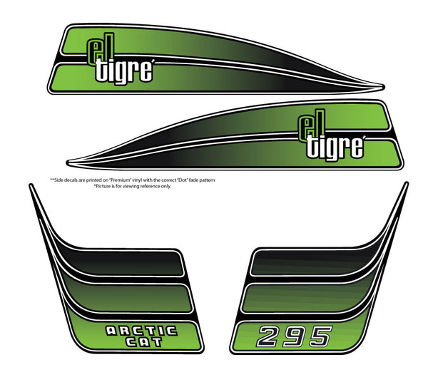 1974 Arctic Cat El-Tigre 295 Hood Decals