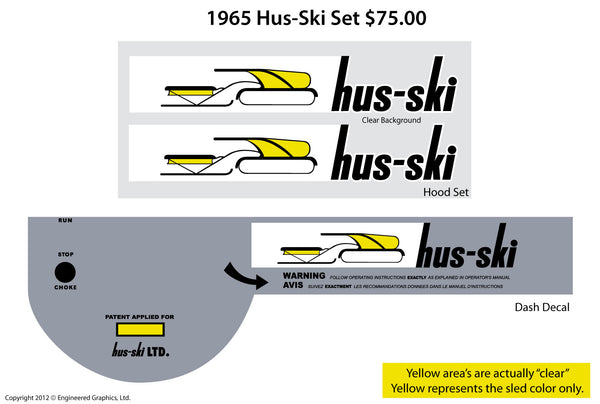 1963 - 65 Hus-Ski Decal Set
