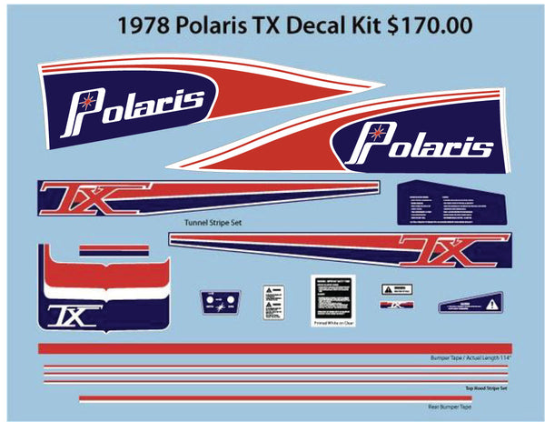 1978 Polaris TX Decal Set