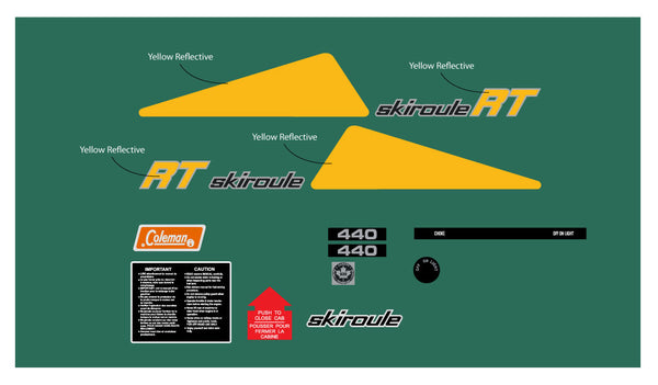 1973 Skiroule RT 440 Decal Kit