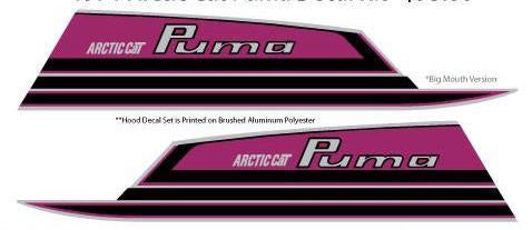 1971 Arctic Cat Puma Hood Decals