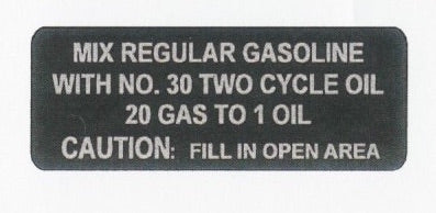 1971 Arctic Cat Puma Axial Flow Fuel Mixture Decal