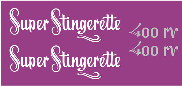 1973 Scorpion Super Stingerette 400 rv Hood Decals